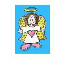 Hey Angel Baby! Art Print