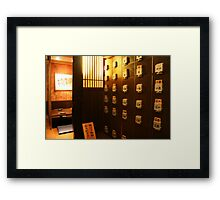 Japanese Restaurant Interior Framed Print