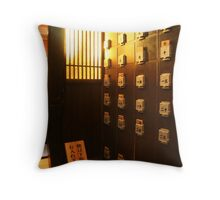 Japanese Restaurant Interior Throw Pillow