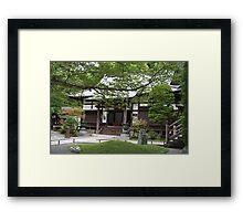 Old Japanese shrine in Kamakura Framed Print