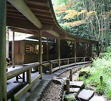 Traditional Japanese Tea Room in Kamakura by Digital Editor .