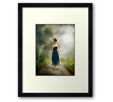 Between the clouds - depression Framed Print