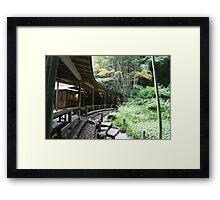 Autumn in Japan - Traditional Japanese Tea Room in Kamakura Framed Print