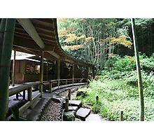 Autumn in Japan - Traditional Japanese Tea Room in Kamakura Photographic Print