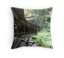 Autumn in Japan - Traditional Japanese Tea Room in Kamakura Throw Pillow