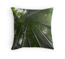 Bamboo Forest in Kamakura, Japan Throw Pillow
