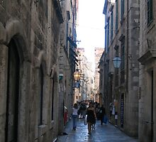 Marble streets of Dubrovnik. by machka