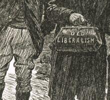Socialism & Old Liberalism Punch 1909 Sticker