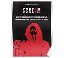 Scream 4 Minimal Poster Redesign Poster