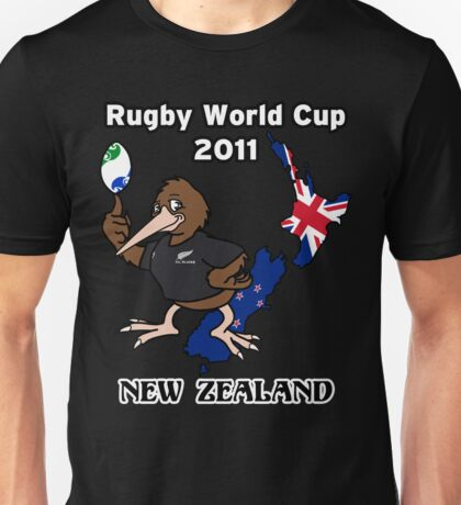 Rugby World Cup 2011 - All Blacks Kiwi Unisex T-Shirt
