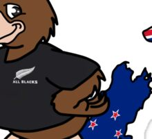 Rugby World Cup 2011 - All Blacks Kiwi Sticker