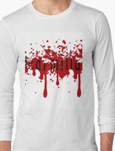 Carmilla-Blood Spatter Effect Long Sleeve T-Shirt
