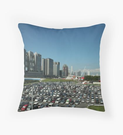 Near The TV Building in Tokyo, Japan Throw Pillow