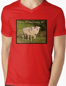 Nature Series/Humor/What Are You Looking At? Mens V-Neck T-Shirt