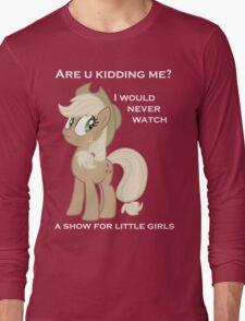 Applejack lies with Text Long Sleeve T-Shirt