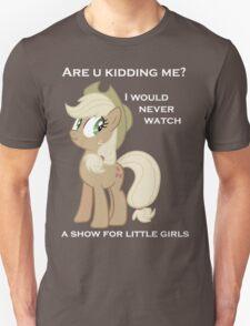Applejack lies with Text T-Shirt