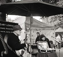 Winter Music, Salamanca Market, Hobart by Brett Rogers