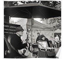Winter Music, Salamanca Market, Hobart Poster