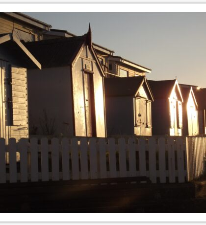 Beach Huts Westward Ho! Sticker