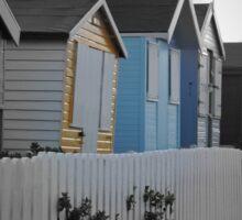Beach Huts Westward Ho! Sticker