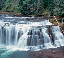 Lower Lewis River Falls  by leksele