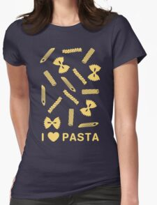 I love pasta paste species Womens Fitted T-Shirt