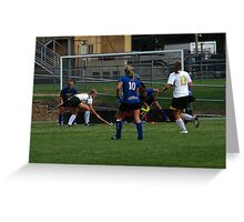 091611 187 0 field hockey Greeting Card