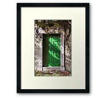 Green Door 1 Framed Print