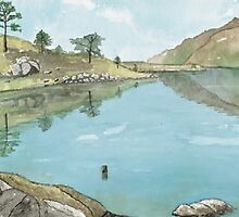 Loch Maree, Wester Ross, Scotland by David Alexander Elder