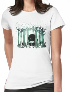 A Quiet Spot in Green Womens Fitted T-Shirt