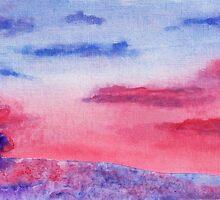 Pink Sunrise by David Alexander Elder