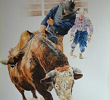 Bullriding by David McEwen