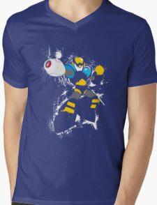 Flash Man Splattery Vector T Mens V-Neck T-Shirt