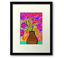 Psychedelic Bouquet Framed Print