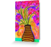 Psychedelic Bouquet Greeting Card