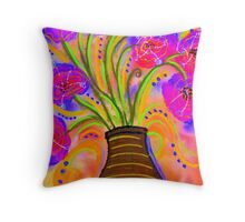 Psychedelic Bouquet Throw Pillow