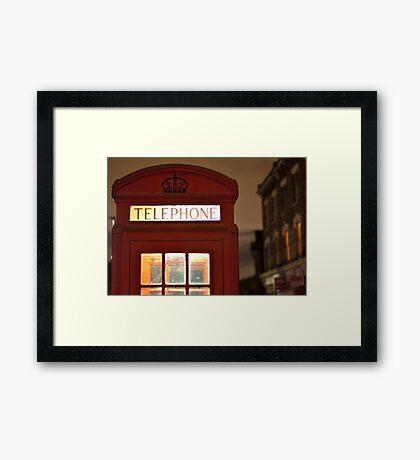 Red Phone box - London - England Framed Print