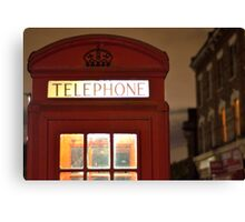 Red Phone box - London - England Canvas Print