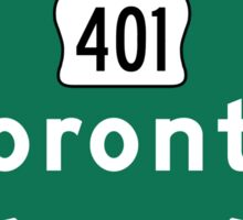 Toronto, Road Sign, Canada  Sticker