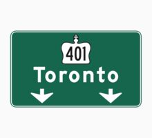 Toronto, Road Sign, Canada  One Piece - Long Sleeve