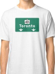 Toronto, Road Sign, Canada  Classic T-Shirt