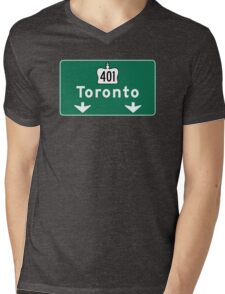 Toronto, Road Sign, Canada  Mens V-Neck T-Shirt