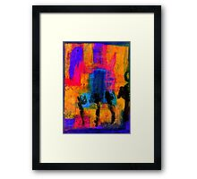 Woman with Three Legs Framed Print
