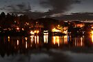 Lake Placid NY at Night by Debbie Pinard