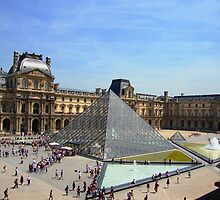 Louvre Pyramid - Paris by Kim North