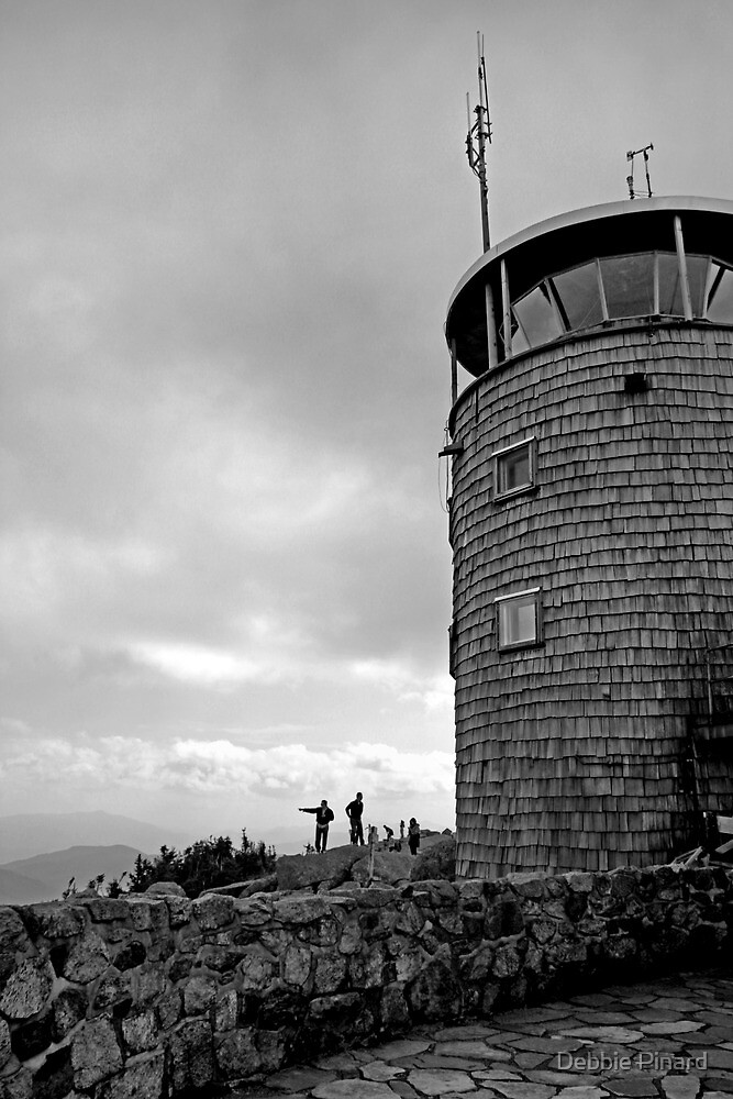 The Top of Whiteface - Lake Placid New York - B&W by Debbie Pinard