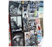 Postcards - streets of Paris Poster
