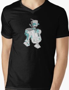 Two little robots - colour version Mens V-Neck T-Shirt