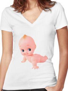 Kewpie Women's Fitted V-Neck T-Shirt