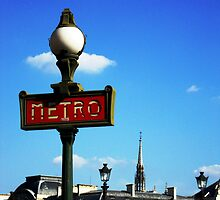 The Metro - Paris by Kim North
